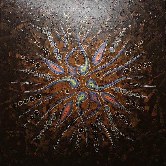 Zeitgenössische Malerei : Abstrakte Formenbewegung / Braun.. Jonathan Pradillon Jonathan Pradillon