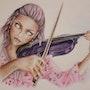 The possessed violinist. Vicky Hague