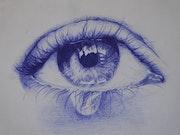 Lágrima azul.