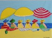 Les Divines à la plage.