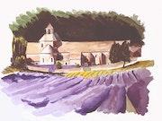 L'abbaye cistercienne de Senanque.