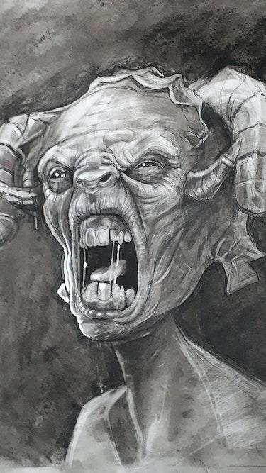 Angry sheep art. Frantz Barichard