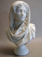 Buste signé Carrier Belleuse. Marc Menzoyan Antiquités
