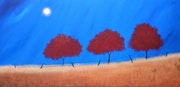 """Shining Over The Reds"" 152x76x2cm."