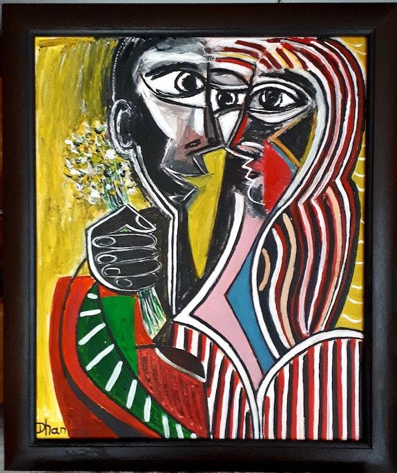 «Avec des fleurs». Dhani Dupouy Dhani