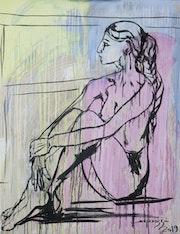 L'Égyptienne - Femme nu à la fenêtre.