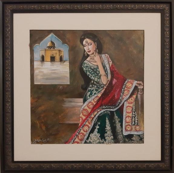 Ancient Woman Detailed Dress by Shanzay Subzwari. Shanzay Subzwari La Galleria