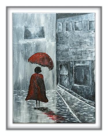 Rainy street. Carole Pruvost
