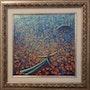 Blue & Orange Theme Whirling Dervish & Mosque by Khusro Subzwari. La Galleria