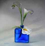 3 Arômes et un flacon bleu / 3 flavors and a blue bottle. Jacqueline Hautbout