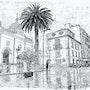Calle de La Laguna lloviendo. Francisco Garcia