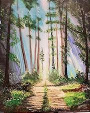 Allée de forêt.