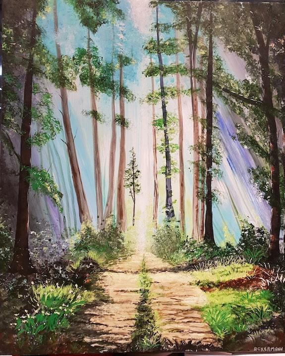 Allée de forêt. Sophie Ackermann Sophie Ackermann
