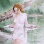 Nue au bain. Vincent Bourdin