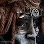 Sayet : Buste d'un personnage ethnique féminin. Fred Brossard