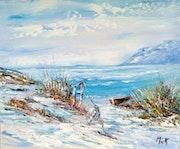 Charme de l'hiver au bord de mer.