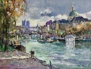Paris Notre Dame l'Institut et le pont des Arts.