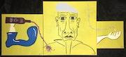Cubiste Avec Cigarette et Vin. Nicky Jones