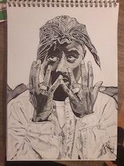 Tupac Shakur. Jimmy Santa