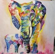 Éléphant tout en couleurs. Christine Venniro