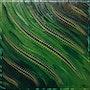 Contemporary painting : Green fluid.. Jonathan Pradillon