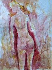 Lumiere matinale, nu de dos,. Jacques Donneaud