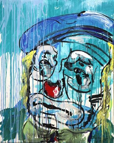 La tristesse du vieux clown. L'atelier Gc