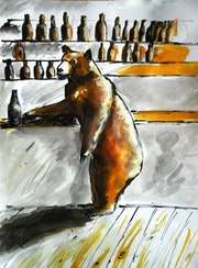 Just a thirsty bear.