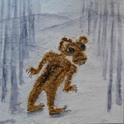Zombie bear walking in northland. Hang Ribeir