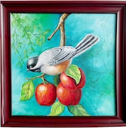 Bird with Apple.