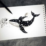 Art Astronaut. Drawings. Art. Ik