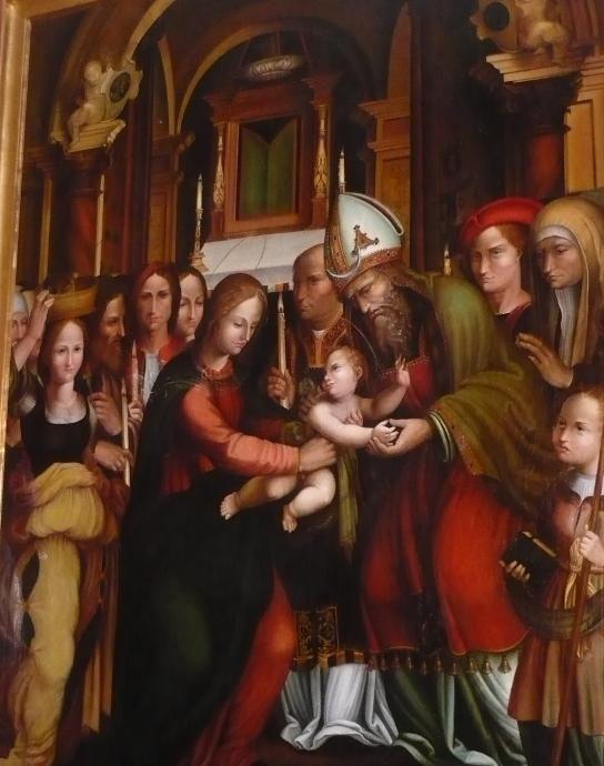 Presentación de Jesús en el Templo. Anónimo Italiano Siglo Xix Anticnova Art Gallery