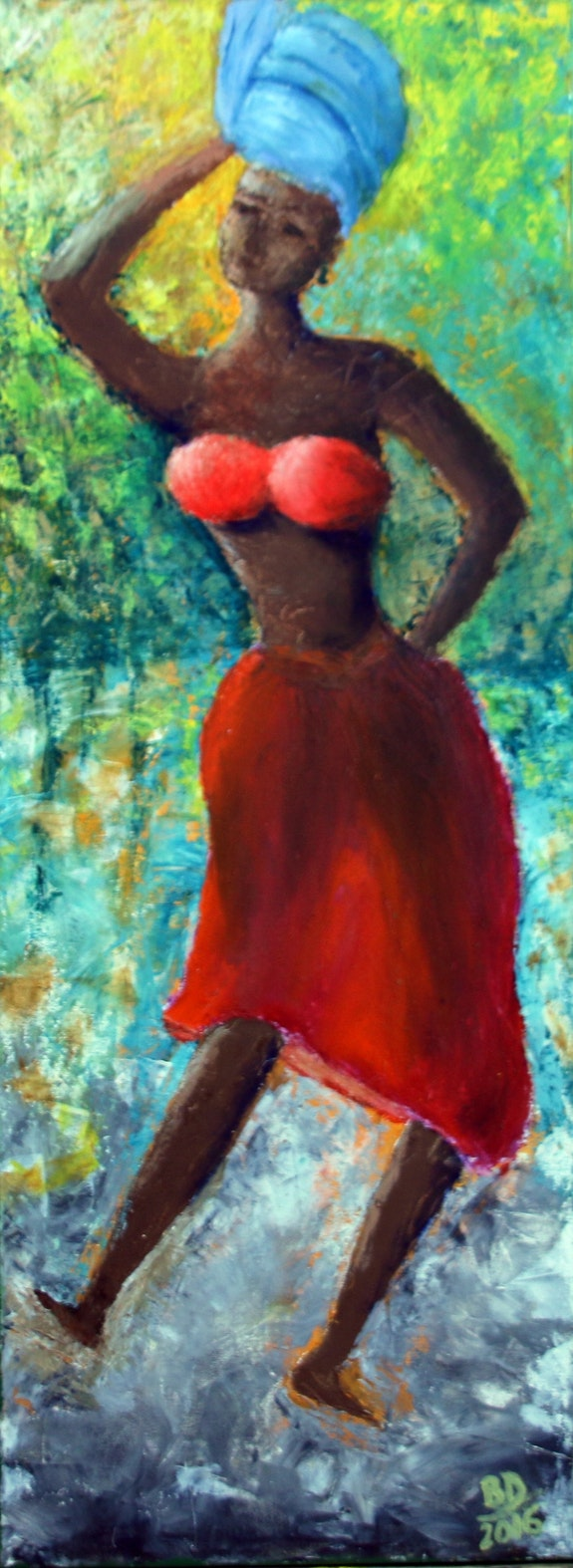 African woman - Dancing in the woods. Biplab Datta Biplab