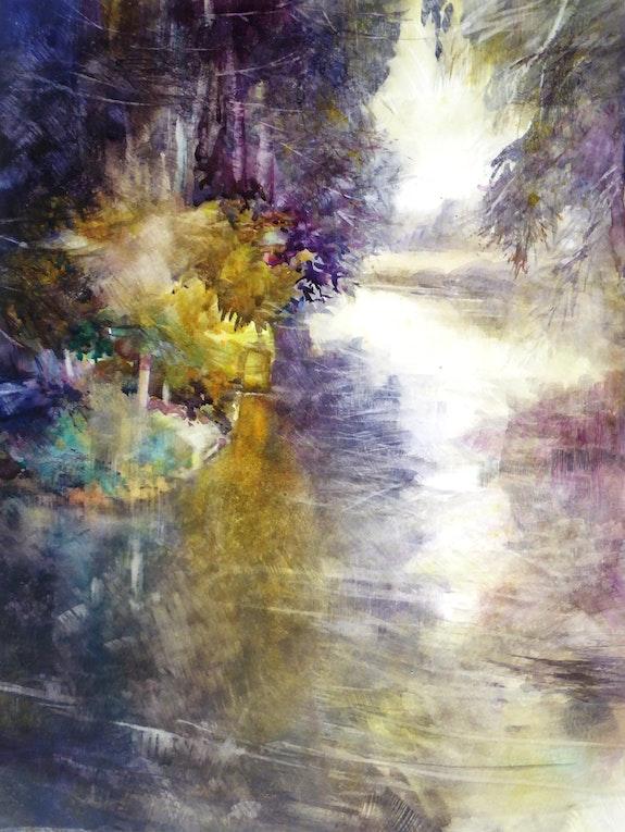 Chemin d'eau. Anne Huet -Baron Anne Huet Baron