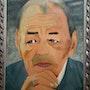 Self-portrait sm le roi hassan II. Salim Azarou