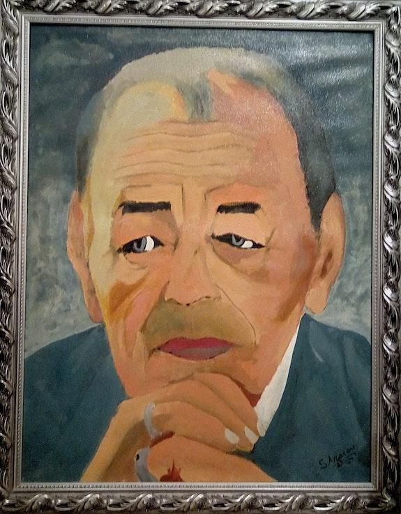 Self-portrait sm le roi hassan II. Salim Azarou Salim Azarou