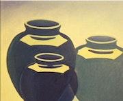 Etude structure du reflets, série poteries. Jean Daniel Rousseau