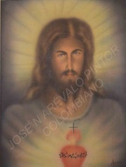Sagrado corazon de Jesus by Jose Arevalo.