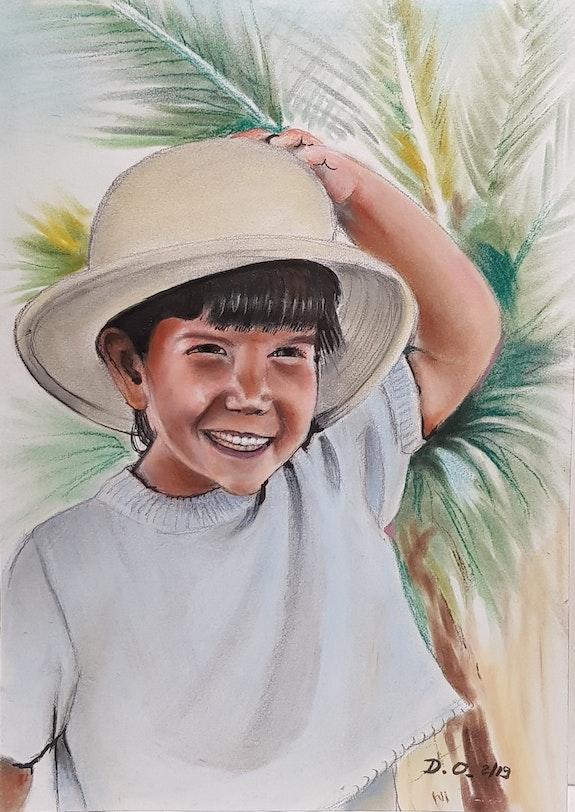 La fillette au chapeau. Obry Dominique 33Domy