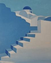 Architecture bleue 4/4 verticale.