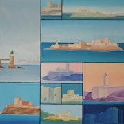 Le château d'If, au départ de Marseille, été 2013..