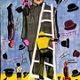 Men, ladders and hats. Sarah Hussein