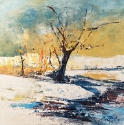 Martigues… L'hiver au bord de l'étang. Roger Perrier