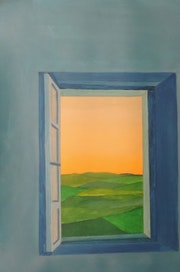 Le paysage par la fenêtre..