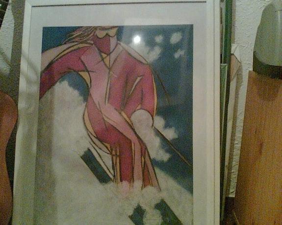 Le skieur.  Anne Laure Oumohou