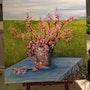 Le seau aux fleurs / acrylique sur toile vernie. Mariraff