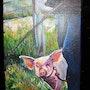 Cochon en laisse. Florent V.