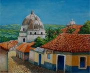 Church Of Pespire In Honduras.