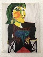 Caricature Femme Picasso.
