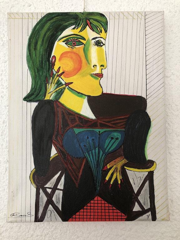 Caricature Femme Picasso. Gertrud Bresch Diana
